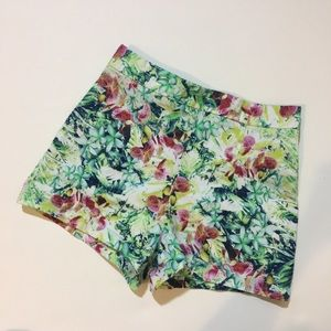 High waist floral short
