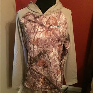 NWT Cabela's OutfitHer Camo Hooded Pullover, Large