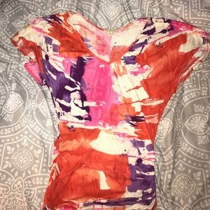 Multicolor Forever 21 flattering top!