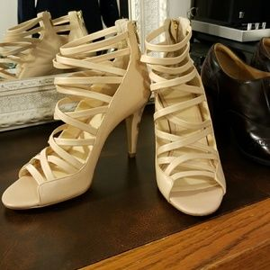 Banana Republic Nude Strappy Heels
