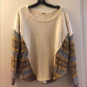 Free People Cableknit Sweatshirt Size XS