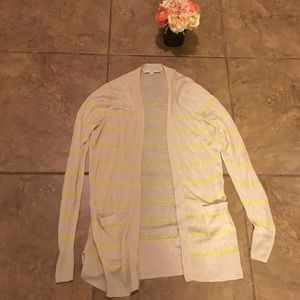 Cream and yellow Ann Taylor loft coverup