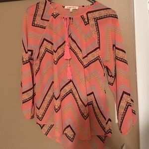 Bright blouse!