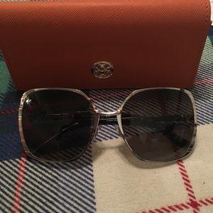 Tory Burch square slim frame sunglasses