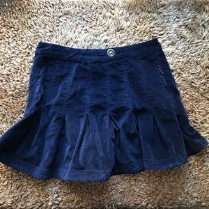 FREE PEOPLE VELVET MINI SKIRT