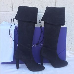 Stuart Weitzman Black Highland Over The Knee Boots