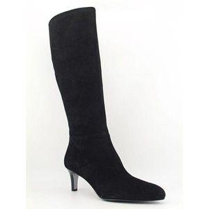 Tahari Payton knee high boot. Black suede.