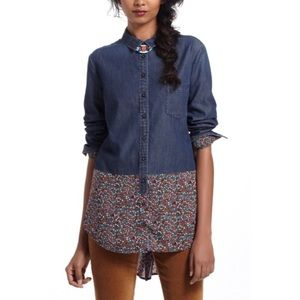 Anthropologie Postmark Chambray Button up