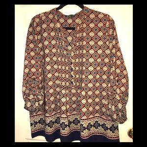 Forever 21 Bohemian Printed Blouse Size 2X
