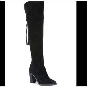 NEW Franco Sarto Ellyn Over/the-Knee Suede Boots