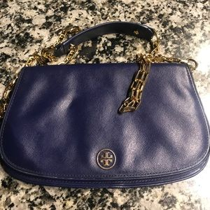 Patent Leather Blue Tory Burch Satchel