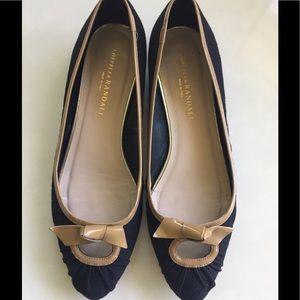 Loeffler Randall Black Flats Size 8