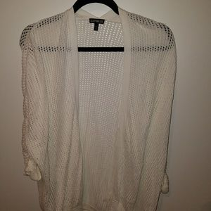 Express All White Open Stitch Cover Up