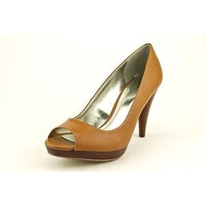 Style and Co Tan peep toe heels
