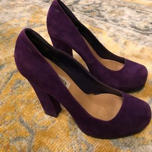 Purple Steve Madden suede heels