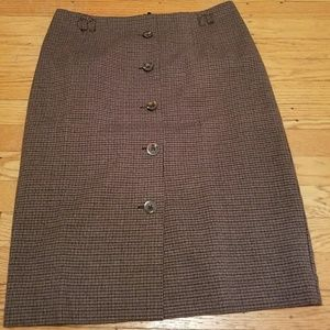 Houndstooth Pencil Skirt in Earthtone colors