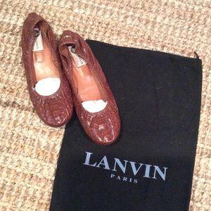 Lanvin Python flats