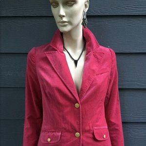 OLD NAVY Women's Blazer Pink Velvet Lined Size M