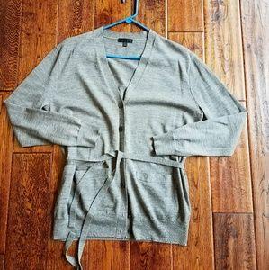 Jcrew Merino wool belted cardigan sweater