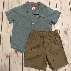 Other - Toddler Boy Carter's Shirt & Shorts Matching Set