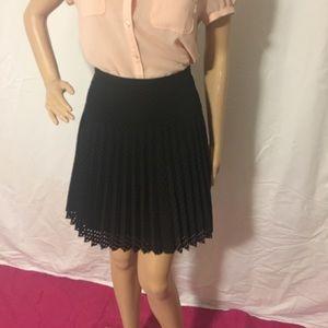 Black pleated skirt from jcrew