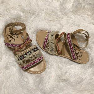 Other - Girls ankle strap boho sandals
