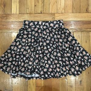 Urban Outfitters High Waisted A-Line Floral Skirt