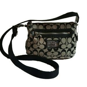 COACH poppy daisy crossbody legacy fabric small
