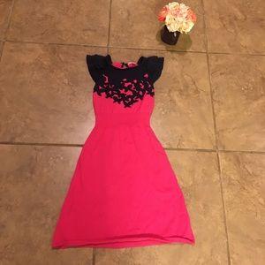 Lilly Pulitzer Pink & Navy Kariana Sweater Dress