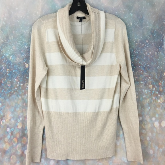 b0bfd8a08d NWT Apt. 9 striped cowl neck sweater NWT