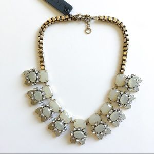 Jcrew light yellow crystal statement necklace
