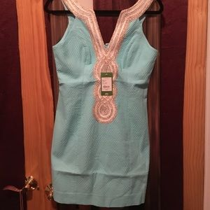 Lilly pulitzer Valli dress turquoise 2 small