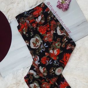 Urban Outfitters BDG Midrise Dark Floral Jeans