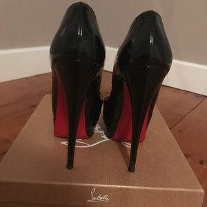 Lady Peep 150 Patent Calf in Black, size 6 (36)
