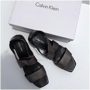 Calvin Klein Saga Platform Wedge