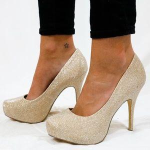 Mix No. 6 Glitzy Platform Heels, Size 9