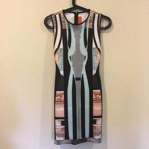 Clover Canyon mirrored neoprene dress