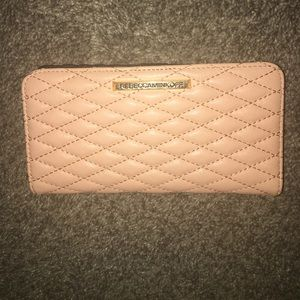 New! Rebecca Minkoff quilted peachy pink wallet