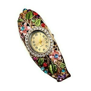 Accessories - Flowery Bracelet Watch