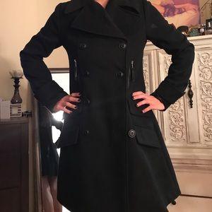 Bb Dakota Perfect Black Pea Coat