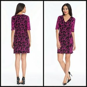 NWT Plenty by Tracy Reese Hot Pink And Black Dress