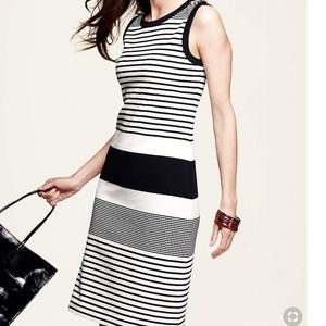 Talbots Striped Knit Tank Dress