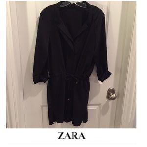 Zara Black Drawstring Waist Dress