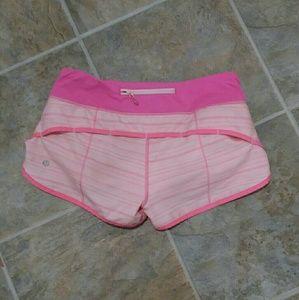 LULULEMON pink speed shorts