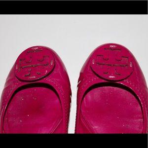 💕 Tory Birch Pink Reva Flats Size 7 💕
