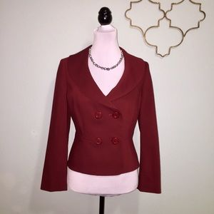 LOFT burgundy wool blazer 6 petite