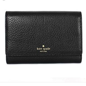New! Kate Spade Callie grey street trifold wallet