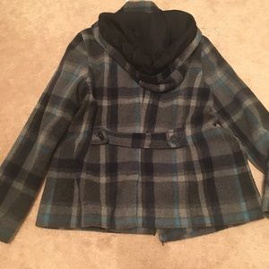 American Eagle Outfitters peacoat with hood