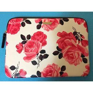"Beautiful Kate Spade Roses Laptop Case 13"" MacBook"