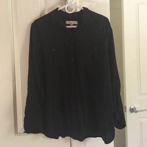Black LOFT button down blouse